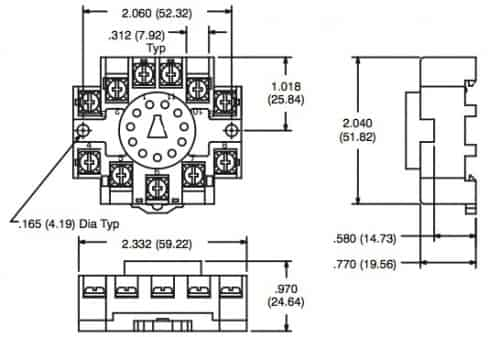 11 pin relay base diagram 11 image wiring diagram r95 114 11 pin octal relay socket din rail mountable on 11 pin relay base diagram