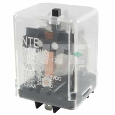 NTE Electronics R95-105 11 Pin Heavy Duty Square Base Socket with Pressure Clamp Screw 10 Amp 300V