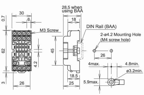 large_9012_SY4S 05specs idec relay wiring diagram diagram wiring diagrams for diy car 14 pin relay wiring diagram at bakdesigns.co