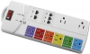 PS-PSPP-8P/N 8 Port Power Strip with Network Surge Protector 6ft Cord