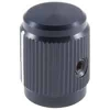 504-0005 1/2in Black Matte Machined Aluminum Knob with Position Line