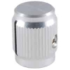504-0007 3/4in Clear Gloss Machined Aluminum Knob with Position Line
