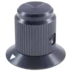 504-0021 3/4in Black Gloss Machined Aluminum Knob with Position Arrow